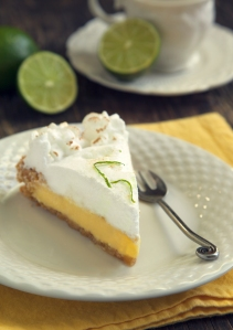 Piece of key lime pie