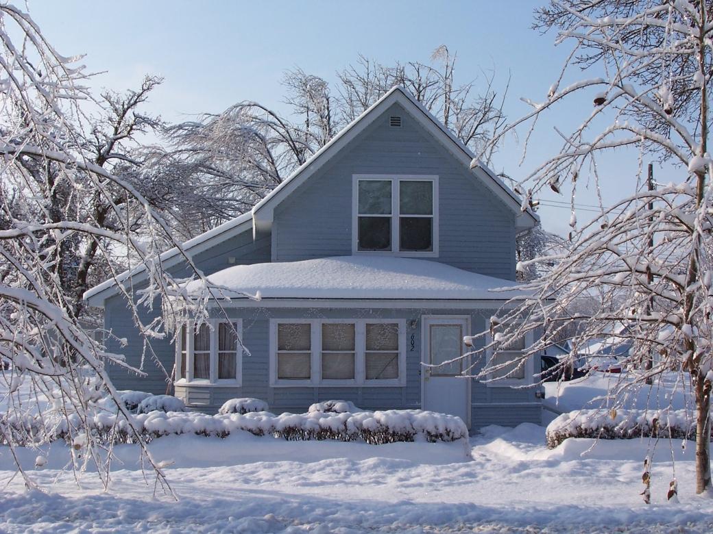 Winter Home Front Door